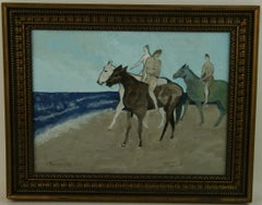 Equestrial Nude Bareback Surreal Abstract Painting