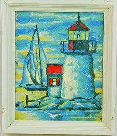 New England Lighthouse Landscape