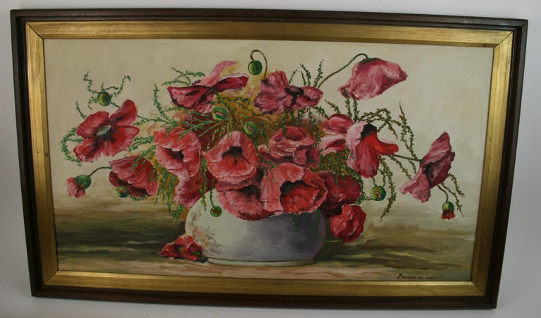 Varna Dulgerow Landscape Painting - Oversized Bouquet of Poppies Stillife  painting