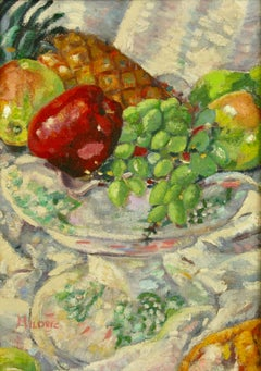 Impressionist Tabletop Still Life with Fruit