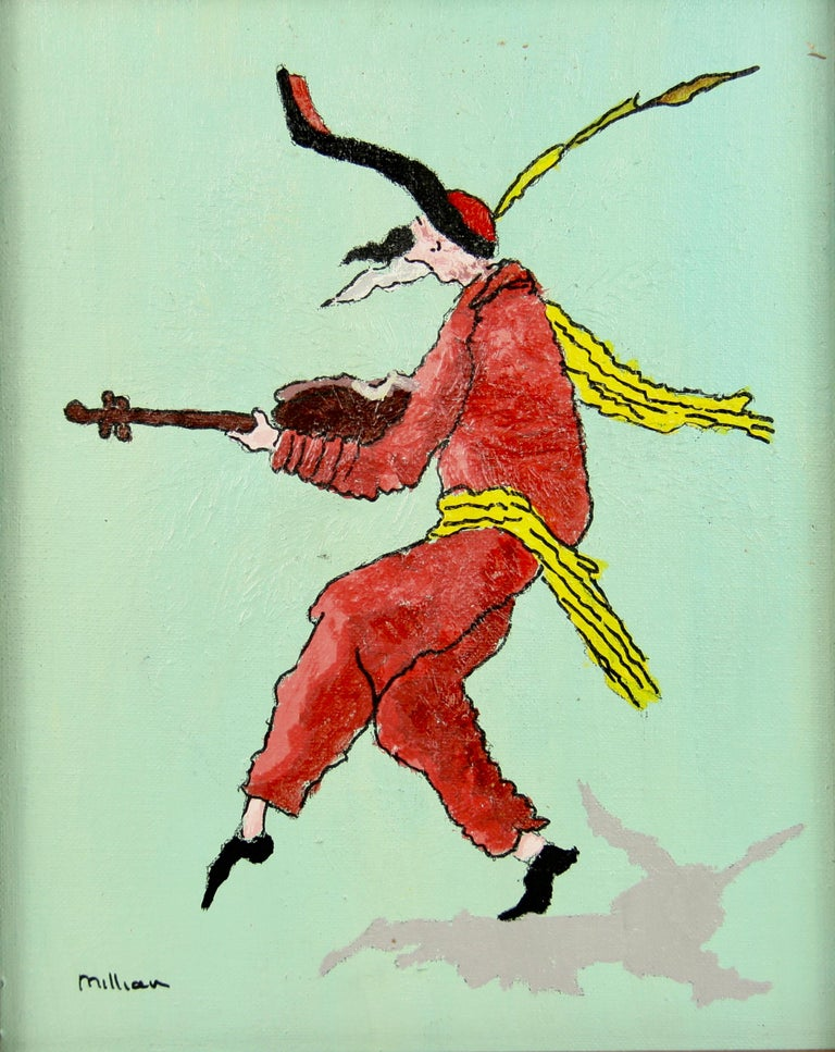 Court Jester Figurative  - Painting by Millian