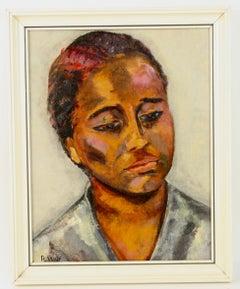 Caribbean Island Female  Portrait  Painting