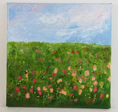 Field of Flowers Impressionist  Landscape  Painting