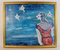 Star Gazing Female Figurative Painting