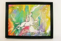 Pegasus Rising Equestrian Painting Abstract