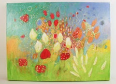Fantasy Flower Landscape  Abstract Painting