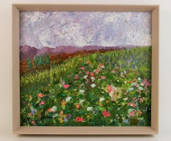 Impressionistic Wildflower Landscape Painting