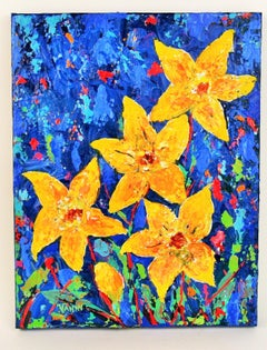 Impressionist Yellow Flowers