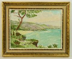 Italian Shoreline Landscape Painting
