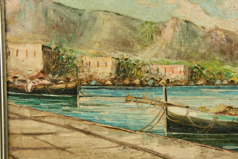 Amalfi Coastal Painting For Sale 1