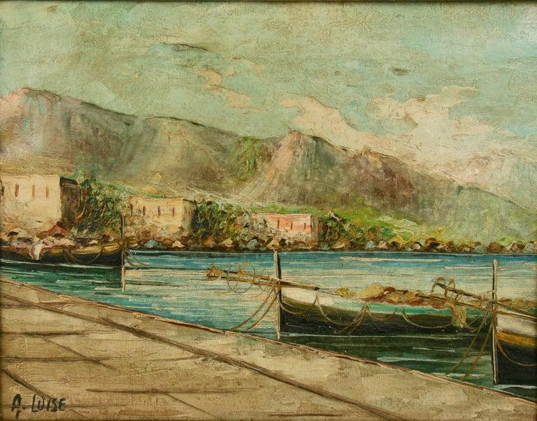 Amalfi Coastal Painting For Sale 3