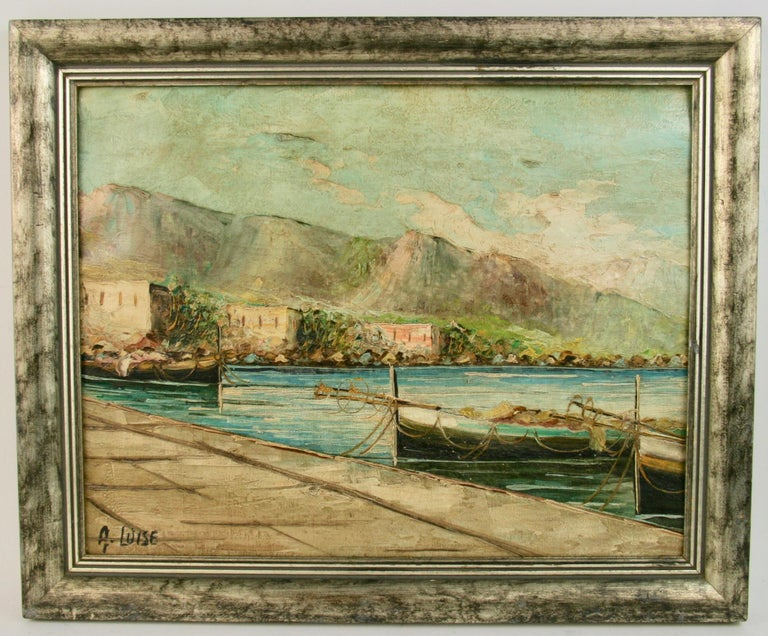 Amalfi Coastal Painting For Sale 4