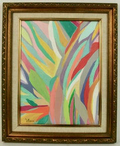 Rainbow Abstract Painting