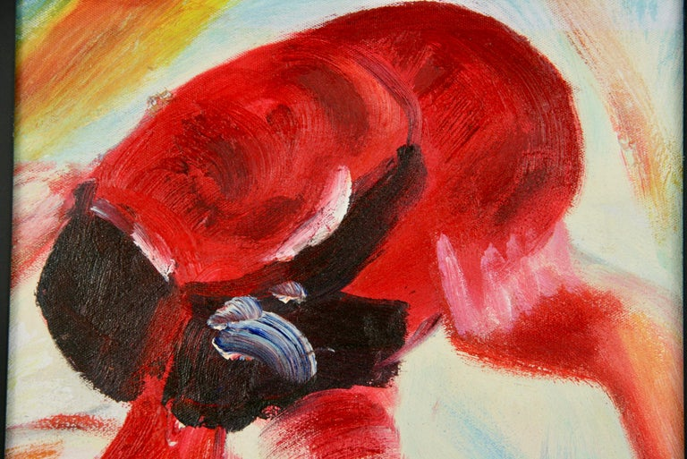 Red Hat Figurative Painting For Sale 2