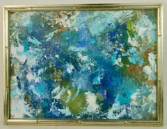 Blue Acqua Abstract Painting