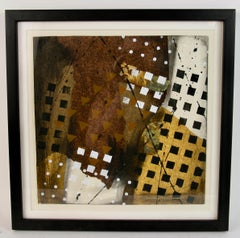 Mid Century Mixed Media Geometric  Abstract by Frank Rowland #3