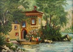 Lake Como Villa Garden  Landscape  1920's