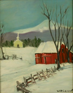 New England Winter Landscape 1940's