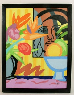 Homage to Matisse and Leger Abstract Figurative Still Life
