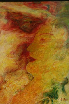 Abstract Expressionist  Figurative Female Painting
