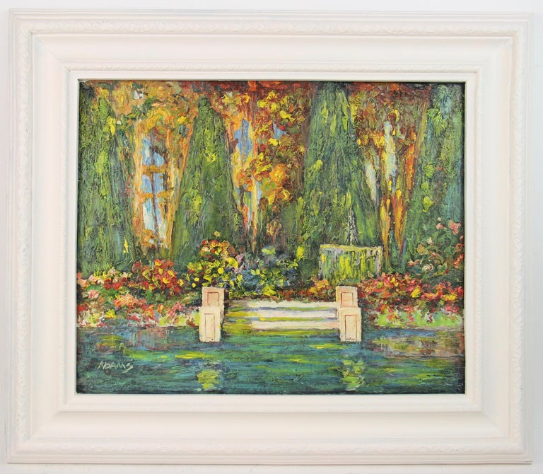 Adams Abstract Painting - French Lily Pond Landscape