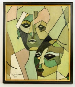 French Lovers Cubism Figurative