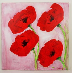 Poppies Floral Impressionist  Painting
