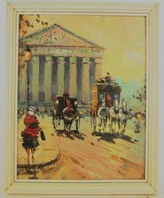 Old  Paris Impressionist Cityscape Landscape