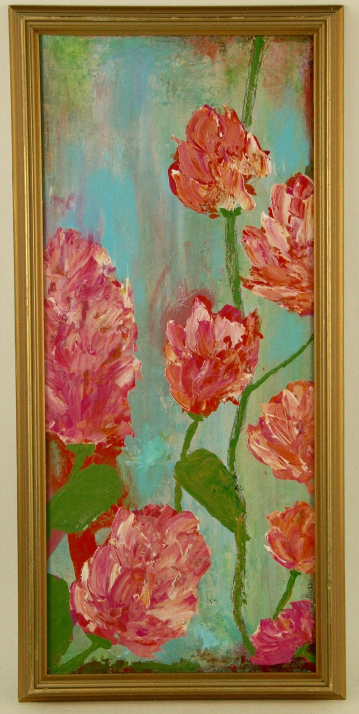 A.Merini Still-Life Painting - Impressionist Tropical Flowers