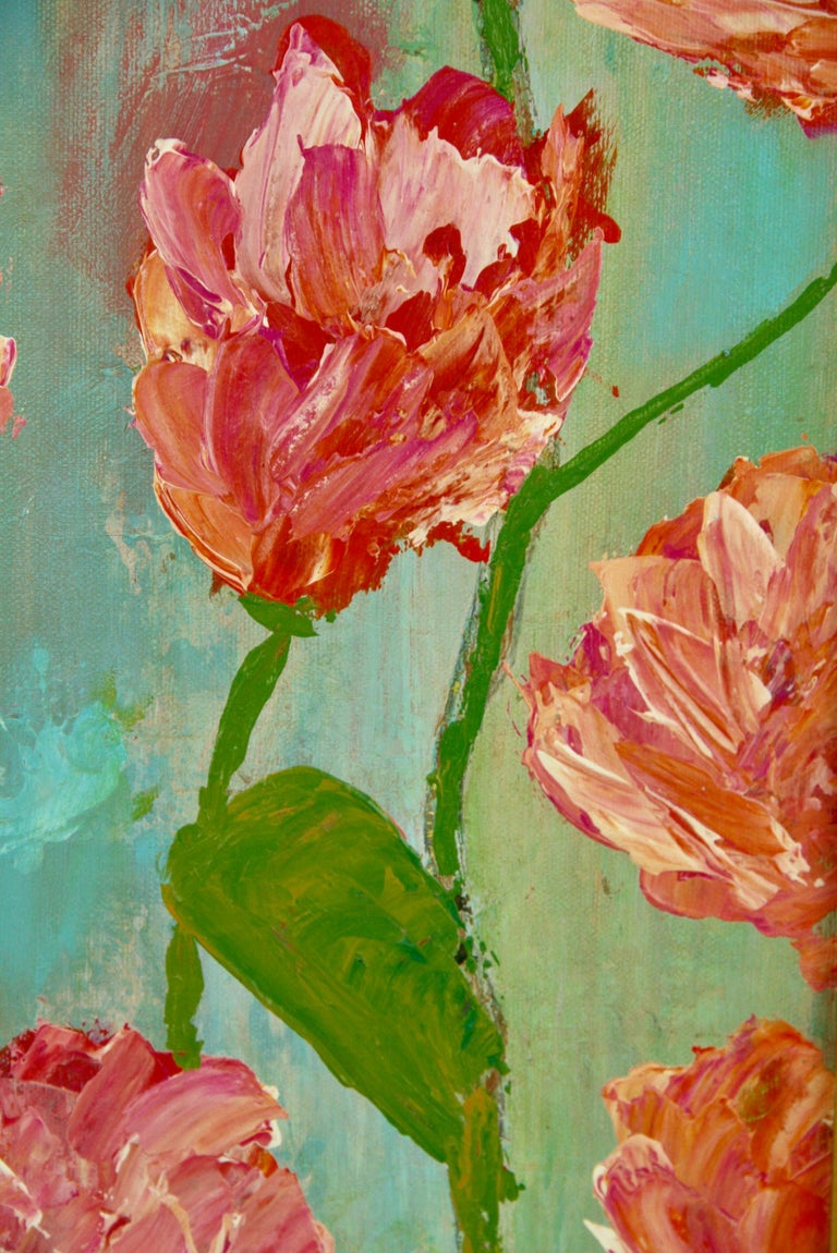 Impressionist Tropical Flowers For Sale 1