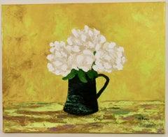 Black Pitcher Floral Still Life