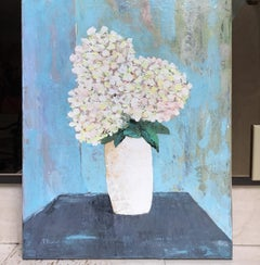 White Bouquet Floral Painting