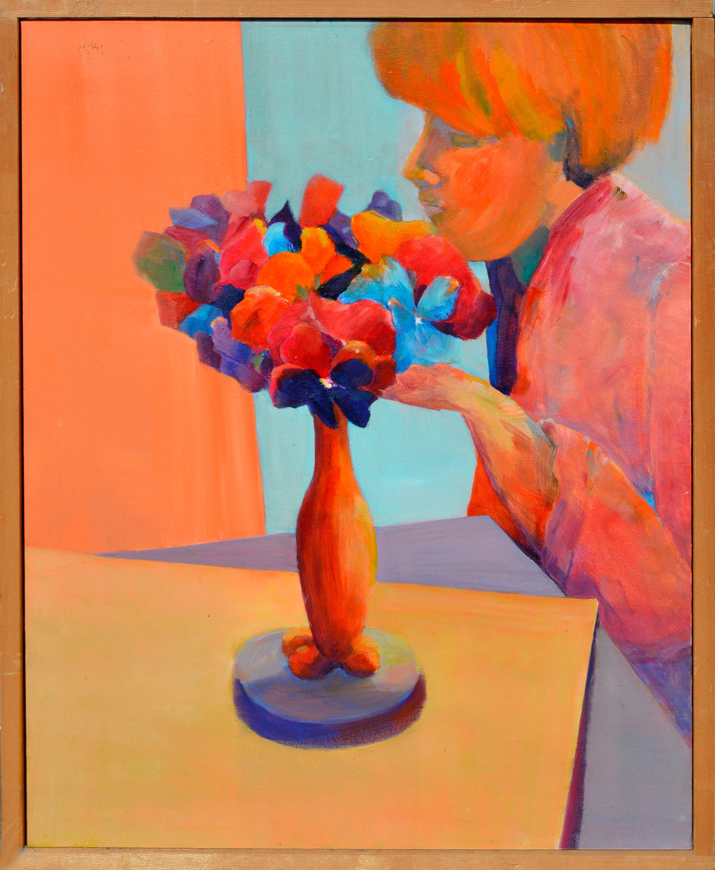 Fauvist Figure with Flowers