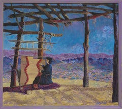 "Navajo Scene ""The Weaver"" Monumental Size"