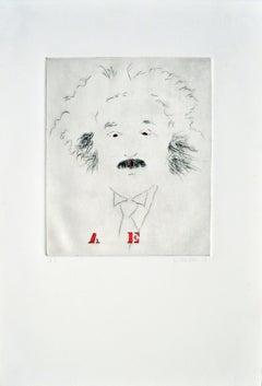 """""""A E"""", Albert Einstein Portrait #8"""