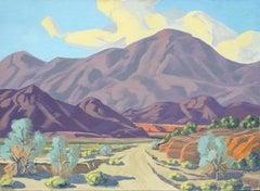 Desert Dry Lake Landscape