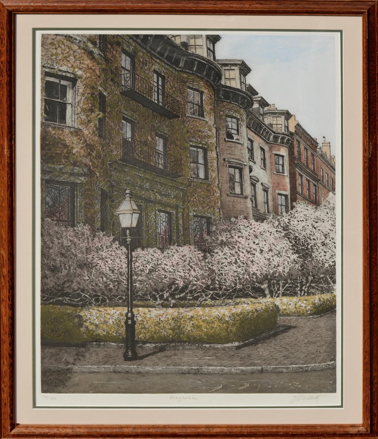 John Collette Landscape Print - Magnolia, Beacon Hill Boston
