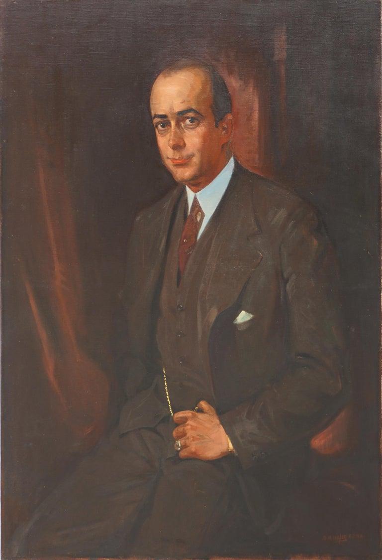 David Nicholson Ingles Portrait Painting - Portrait of Gentleman David Ingles - Scotland