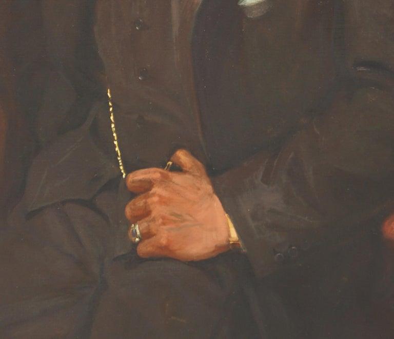 Portrait of Gentleman David Ingles - Scotland - Impressionist Painting by David Nicholson Ingles