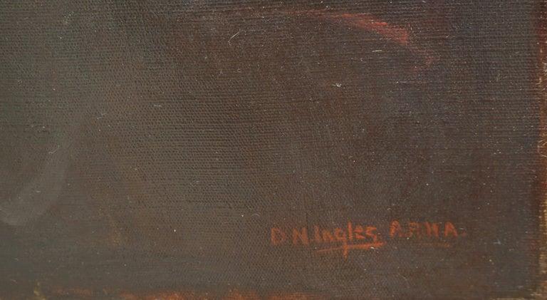 Portrait of Gentleman David Ingles - Scotland - Black Portrait Painting by David Nicholson Ingles