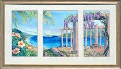 Paradise Cove Landscape Triptych