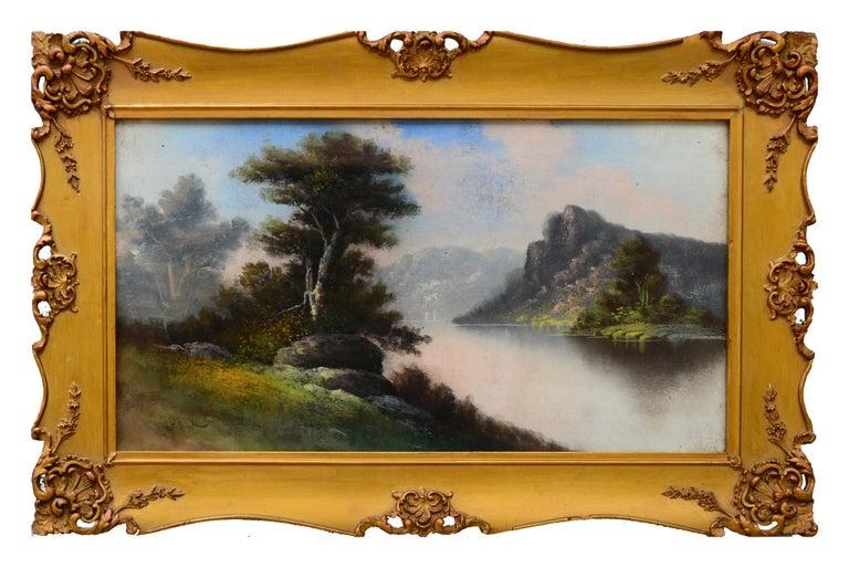 William Henry Chandler Landscape Painting - Early 20th Century Tonalist Pastel Landscape