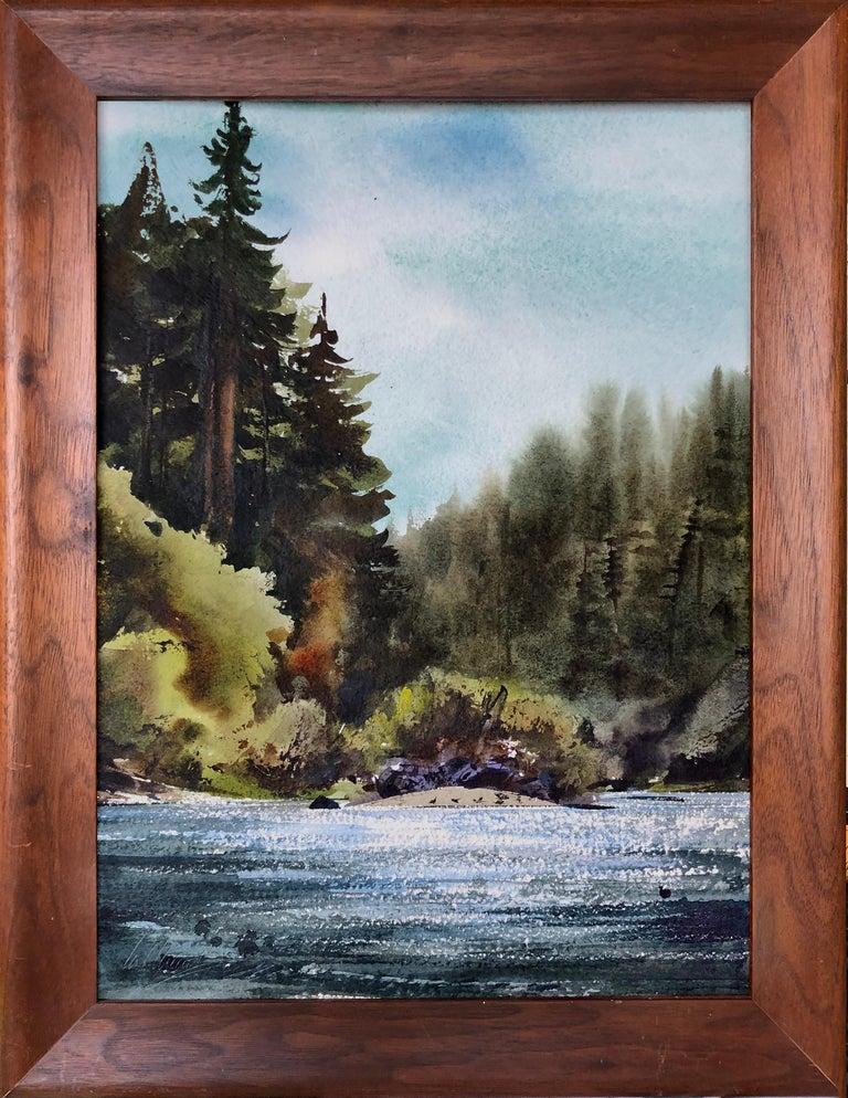William Matthews Landscape Art - Russian River Landscape at Bohemian Grove, California 2002