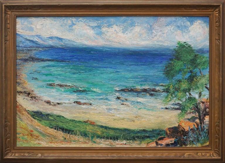 Rosalie Leonard Landscape Painting - Malibu Coastline 1950's