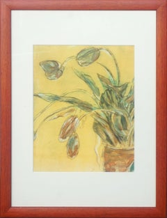"""""""Tulips Detail"""" Still-Life Lithograph"""