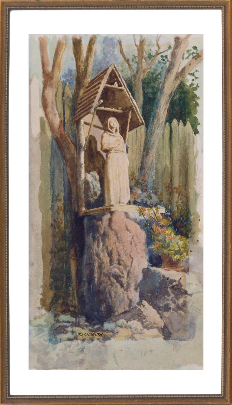 Theodore Ernest Langguth Figurative Art - Statue of an Ascetic (The Hermit)