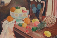 Still Life with Fruit, Pineapple, and Pitcher Interior