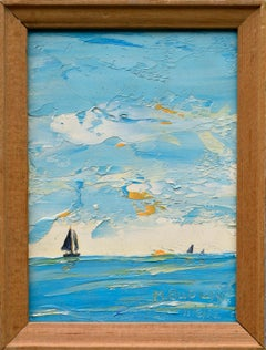 Sailboats on the Horizon Landscape