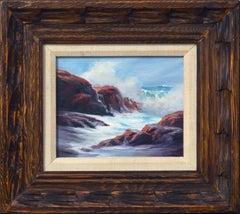 Waves Crashing on the Cliffs Landscape Seascape
