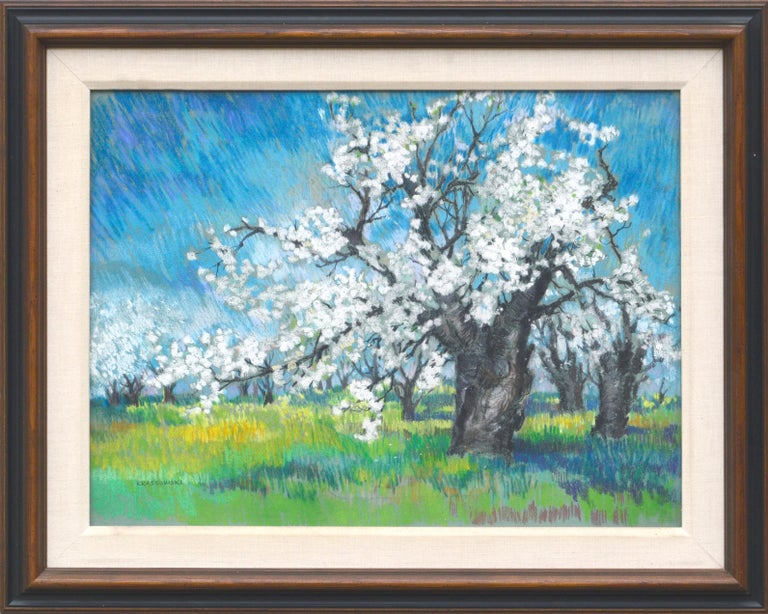 Therese Nolan Krassowski Landscape Art - Cherry Blossoms Landscape